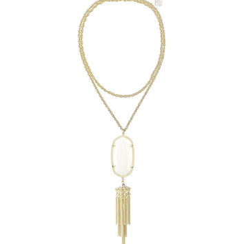Kendra Scott Rayne Long Gold Necklace - White Pearl 30 inch