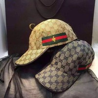 One-nice™ GUCCI Little Bee Embroidery Cap Hat