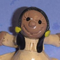 Corn Flower the American Indian Girl polymer clay statue by enchantedcraft on Zibbet