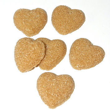 Espresso Flavored Sugar Cubes- Hearts for Tea Parties, Champagne Toasts, Favors, Coffee, Tea, Berries, Cider, Lemonade