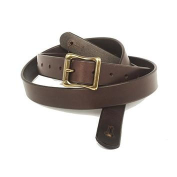 "The Guthrie  1"" Wide Guitar Strap - Dark Brown Bridle Leather"