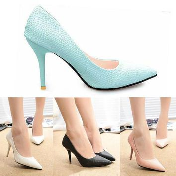 2016 New Fashion Spring Summer Women High Heels Pointed Toe Sandals Shoes Pumps Party