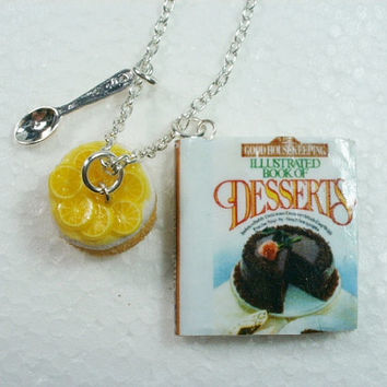 Cookery Book Pendant.  Polymer Clay.