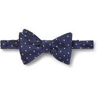 Turnbull & Asser - Taz Polka-Dot Silk Bow Tie | MR PORTER