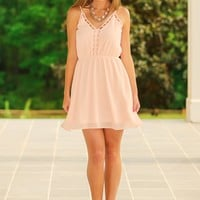 Tomboy No More Dress-Pale Peach