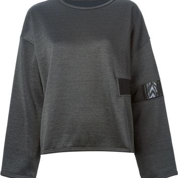 DCCKIN3 MM6 By Maison Martin Margiela sheer panel sweatshirt