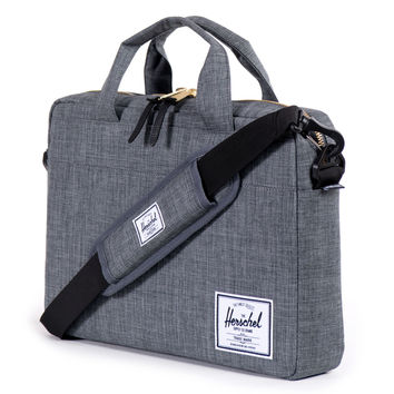 Herschel Supply Co.: Hudson Messenger Bag - Charcoal Crosshatch