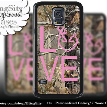 Buck Doe Love Heart Galaxy S4 case S5 Camo Pink Browning RealTree Tree Deer Camo Samsung Galaxy S3 Case Note 2 3 4 Cover Country Girl