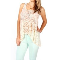 Ivory Lace Hi-Low Top
