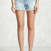 Distressed High-Waist Shorts