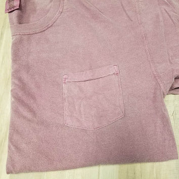 Adult Pocket T-Shirt - Comfort Colors - Berry