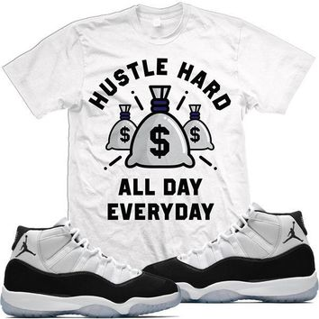 Air Jordan 11 Concord 45 Match Sneaker Tees Shirt - HUSTLE HARD