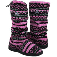 Dallas Cowboys Ladies Jacquard Knit Boots - Pink/Black