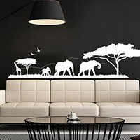 Safari Wall Decal Vinyl Stickers Decals Home Decor Animal Wall Vinyl Decal African Safari Nursery Decor Jungle Bedroom Safari Africa C537