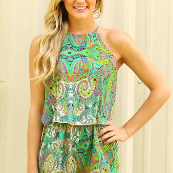 Run Away With Me Romper: Multi - Rompers & Jumpers - Tops - Hope's Boutique