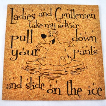 Take my advice! Quirky Corkies Cork board, wall decor, for Home, Office, Dorm, Bedroom, Kids Room wall art