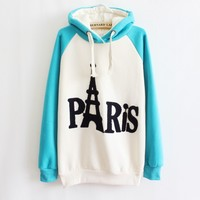 Embroidered Hooded Sweater Letters A 091108