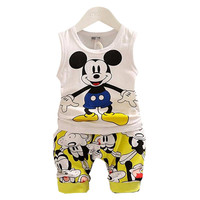BibiCola Baby Boy Clothing Set Summer Top + Shorts Kid Boy Summer Set Children Boy Clothes Set