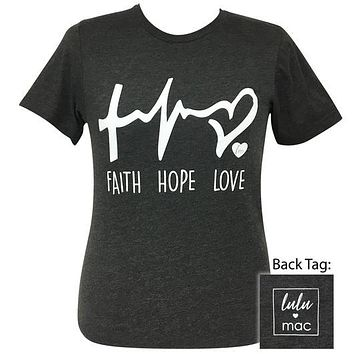 Girlie Girl Originals Lulu Mac Preppy Faith Hope Love T-Shirt