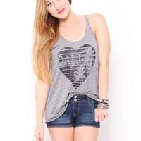 Cali Heart Tank - Tops