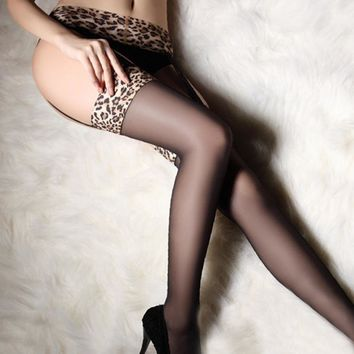 Wild leopard Camisole stockings Sexy factory suit stockings stockings sexy hot sexy silk stockings.
