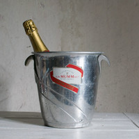 Champagne Ice Bucket // Vintage French MUMM  Bucket