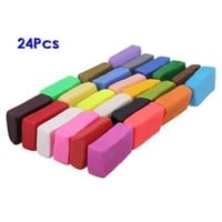 TOOGOO(R) Mixed Colour 24 Soft Sculpey Oven Bake Polymer Clay Modelling Moulding Block