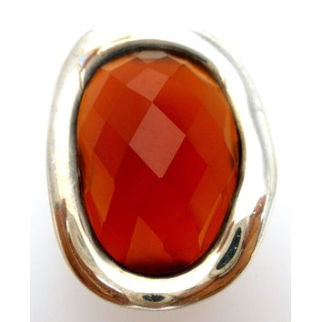 Carnelian Statement Ring Sterling Silver Size 5.5