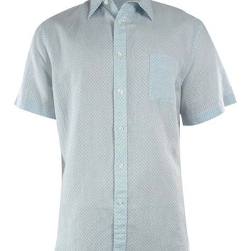 Perry Ellis Men's Dot Pattern Linen Blend Shirt