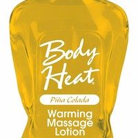 Body Heat Flavored Edible Warming Massage Oil Lotion Lube Lubricant Body Glide (Pina Colada)