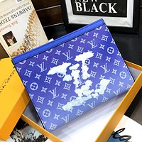 Free shipping: LV 2020 full printed logo clutch clutch bag