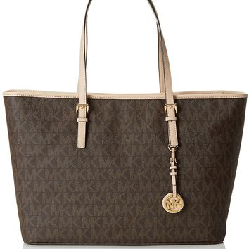 MICHAEL Michael Kors Jet Set Medium Multifunctional Tote Brown