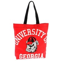 Georgia Red Canvas Tote Bag | UGA Tote Bag | UGA Accessories