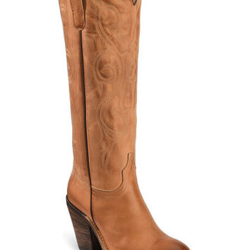 Lucchese Eggshell Vanessa Cowgirl Boots - Round Toe