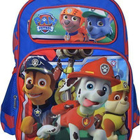 "Nickelodeon PAW Patrol Hero Puppies Deluxe 3D Embossed 16"" School Backpack"
