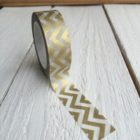 Gold Chevron Washi Tape Style 2