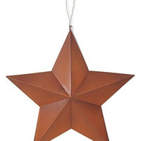 Darice Rustic Metal 3-D Star Hang Tag, 18""
