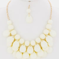 Big Bold Statement Set -- Cream -- Sassy Deal