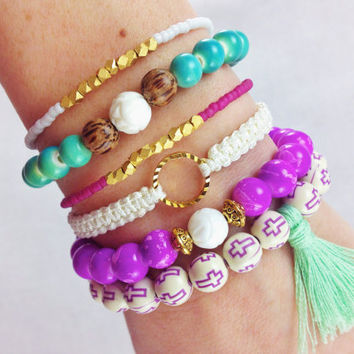 Mermaid Boho Bracelet Stack Set