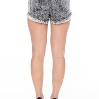Acid Wash Attack High Waist Denim Shorts - Black from Hammer Jeans at Lucky 21