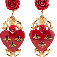 Dolce & Gabbana - Gold-plated resin clip earrings