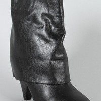 Bamboo Trinity-01 Fold Over Ankle Bootie