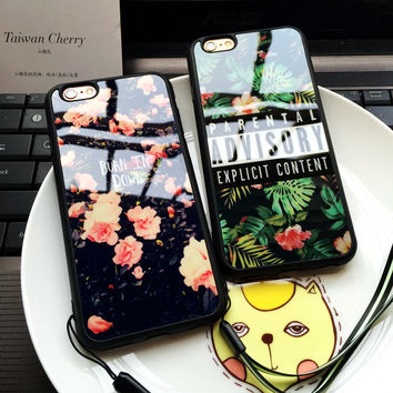 Beautiful Flower Pattern & Grass Advisory Soft Silicone iPhone Case