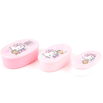 Hello Kitty 3 piece Lunch Container Set: Friends