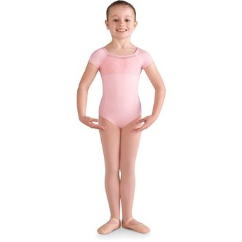 Mesh Back Cap Sleeve Child Leotard CL9932 by Bloch