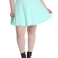 Mint Circle Skirt Plus Size