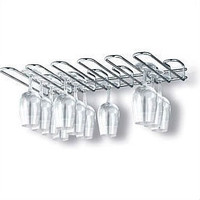 Metal Wall Mounted Wine Glass Rack - Holds 20 Glasses