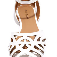 Keepin' it Classy White Ankle Strap Flats