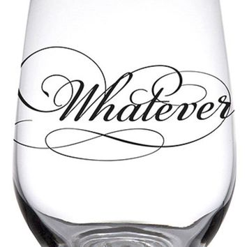 Whatever Stemless Glass By Santa Barbara Design Studio