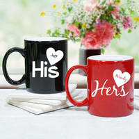 His and Hers Personalized Coffee Mug